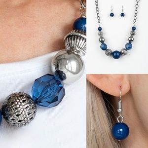 Sugar Sugar Blue Earrings and Necklace